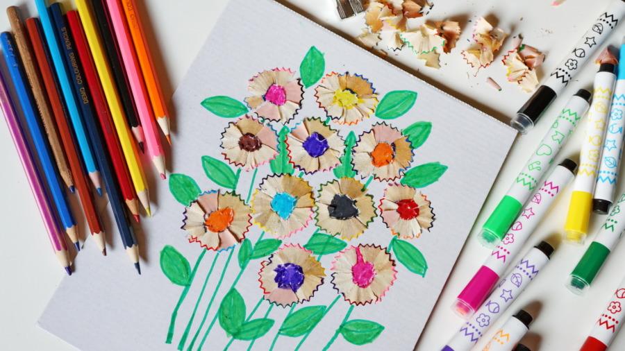 Strużynowe kwiatki